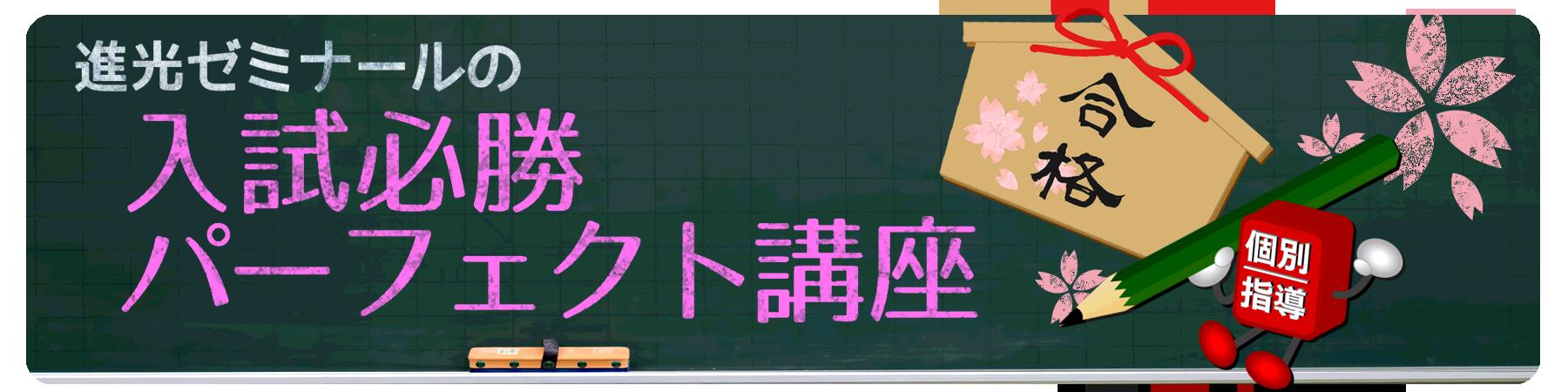 入試必勝パーフェクト講座2019